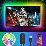LDHOU - Tira de luces LED para fondo de TV, 4 m, USB con aplicación,...