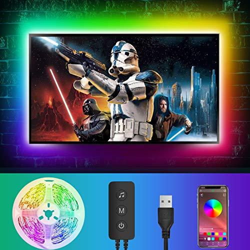 Led TV Hintergrundbeleuchtung, LED Strip 4M Über APP-Steuerung, USB Led Beleuchtung Hintergrundbeleuchtung Fernseher USB für 55 bis 65 Zoll HDTV,TV-Bildschirm und PC-Monitor