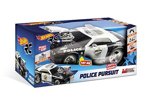 Mondo Motors - Hot Wheels Police Pursuit - macchina radiocomandata  per bambini - 2.4 Ghz - Light&Sound - 63505