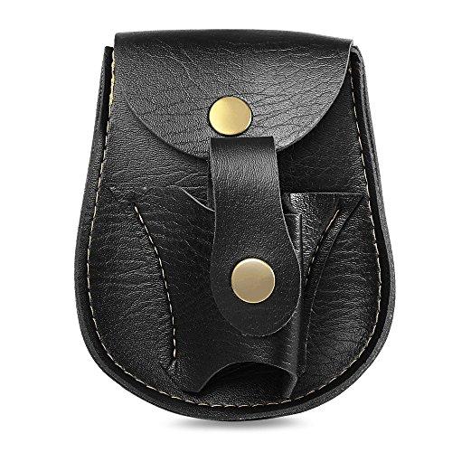 Tini Regner PVC-Katapult, Schleuder, Stahlkugeln, Gürteltasche, Tasche, Holster mit Magnetboden, Schwarz