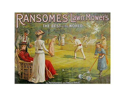 Ransome's tennis grasmaaiers beste in de wereld acryl koelkast magneet plaque
