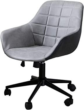 US Fast Shipment Bazahy Executive Swivel Office Lounge Chair Office Chair Leather Desk Gaming Chair with Function Adjust Seat Height (Gray)
