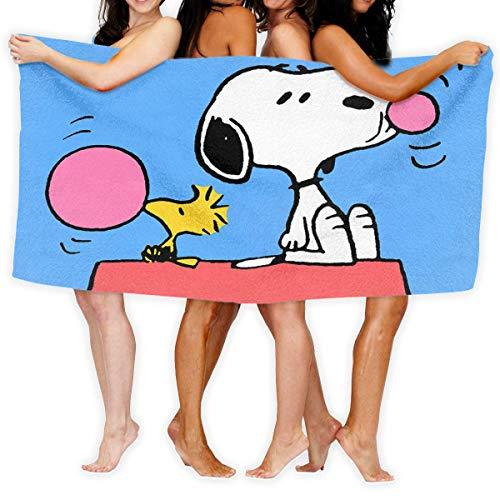 FSTGF Toallas de playa toallas de baño Snoopy de microfibra de secado rápido Toallas de baño de natación Toalla de camping para adultos, toalla de baño de 31 x 51 pulgadas