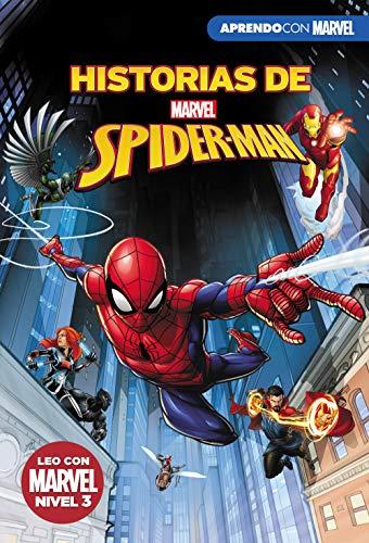 Historias de Spider-Man (Leo con Marvel - Nivel 3): La picadura de la Viuda | El increíble Spider-Hulk | Choque de portales | La venganza de Mysterio