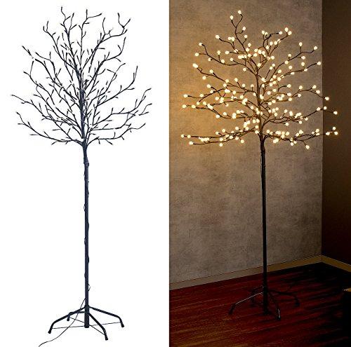 Lunartec LED Baum Outdoor groß: LED-Deko-Baum mit 200 beleuchteten Knospen, 150 cm, drinnen & draußen (Deko Baum mit LED Beleuchtung)