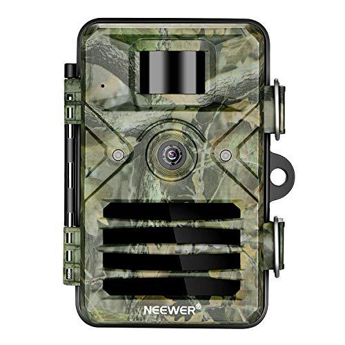 Neewer Jagd Kamera 16MP 1080P HD Jagdkamera 940nm Sicherheit Nachtsicht Bewegungsaktivierte Kameras mit 2,4 Zoll LCD und IP66 Wasserdicht Batteriebetrieben für die Überwachung