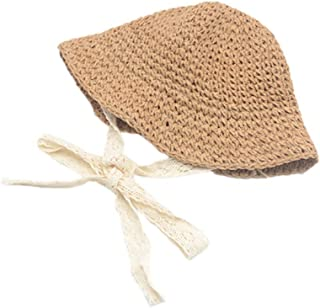 Baby Sun Hat, Toddler Straw Sun Hat with Wide Brim Sun Protection and Travel Beach, Foldable Made
