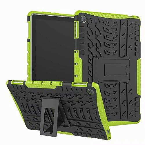 Funda para Huawei Mediapad M5 8.4 pulgadas - Heavy Duty Hybrid Tough Rugged Dual Layer Armor - Cubierta de Kickstand - Verde