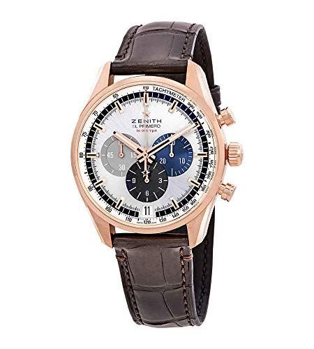 Zenith El Primero 18kt oro rosa cronografo automatico orologio da uomo 18.2043.400/69.C494