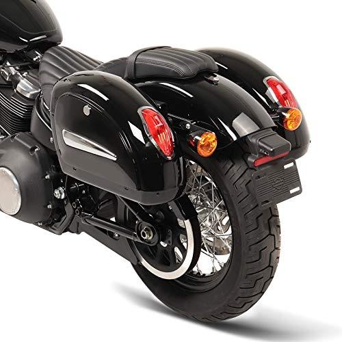 Seitenkoffer Michigan 18l für Harley Davidson Sportster 1200 CA/CB Custom