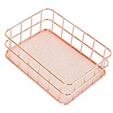 DierCosy Metall-Speicher-Korb Rose Gold, Eisen, Storage Rack Tabletop Makeup Organizer Sundries Halter