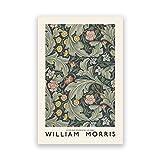Cuadro Vintage decoración del hogar William Morris Museum exposición póster galería arte de pared impresión sin marco...