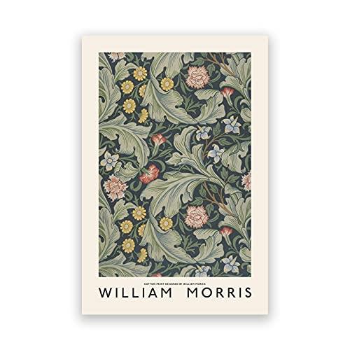 Póster de exposición del Museo William Morris, impresiones artísticas de pared de galería, cuadro Retro, pinturas en lienzo sin marco para decoración del hogar A5 15x20cm