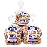 Natural Ovens Bakery Keto-Friendly Buns - 1 Net Carb, 90 Calories a Bun (Case of 3 Packages, 24 buns)