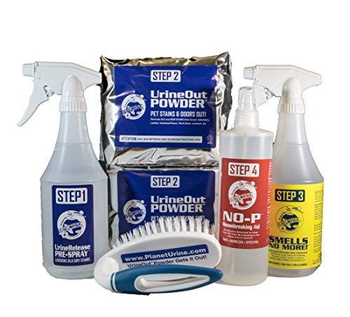 Planet Urine Ultimate II Cleaning Kit for Pet Urine Stain and Odor Removal, Dog and Cat Urine Odor Eliminator System
