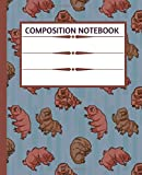 Composition Notebook: Cute Tardigrades in Space, Moon | Trendy Wide Ruled Subject Book | Blank Lined Writing Journal | Primary School, College ... | Work, Home, Study Organizer (7.5 x 9.25 ')
