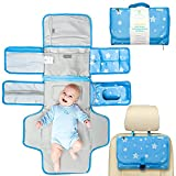 Portable Diaper Changing Pad - Portable Changing Pad for Baby, Newborn Boy & Girl - Portable Changing Mat Baby - Baby Shower Gifts, Newborn Baby Essentials, Unisex Baby Stuff - Baby Gift by wonderbaby