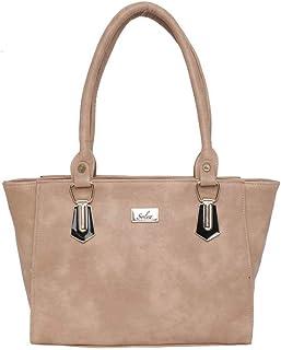 Women Beige Zip Handbags