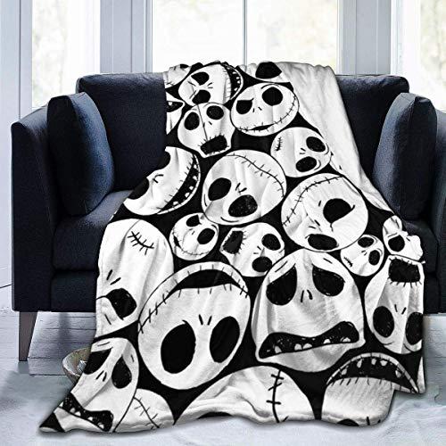 XCNGG mantas de cama mantas de siesta mantas de aire acondicionado Jack Skellington Sally Ultra Soft Blanket Throw Flannel Warm Fluffy Blankets, Children's Blanket Velvet Anti Pilling Fleece Easy to C