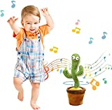 Dancing Cactus Toy, Talking Cactus Toy. 120 Songs. Repeat What You Say. Speaking Baby, Soft Plush Electric Funny Creative Kids Toy. LEDGlowingLight for Home Decor & Babies Interaction and Kids Toys