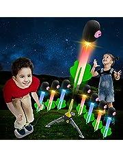 لعبة اطلاق صواريخ مضيئة من الاسفنج للاطفال بقابلية ارتفاع 100 قدم في الهواء، مناسبة للعب في الهواء الطلق وكهدية رائعة للاولاد والبنات باعمار 3 سنوات فما فوق من ان بي باور