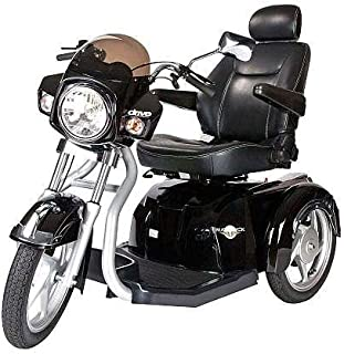 Drive Medical Maverick Executive Three Wheel Power Scooter with Seat, Black, 20 Inch