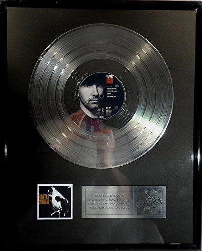 U2 Rattle And Hum platin Schallplatte (goldene gold record)