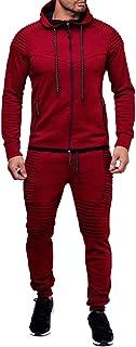amropi Conjunto de Chándal para Hombre Chandal de Jogging Sudadera con Capucha y Pantalones