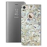 Head Case Designs Oficial Micklyn Le Feuvre Pale Brillante Menta y Salvia Art Deco Marmoling Patrones de mármol Fundas con Función Atril Compatible con Apple iPhone 7 / iPhone 8 / iPhone SE 2020