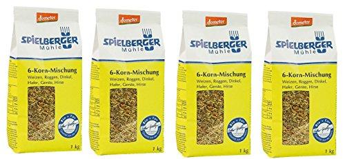 Spielberger Bio 6-Korn-Mischung 1000 gr (4er Pack)
