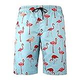 Troncos De Natación para Hombre Pantalones Cortos De Playa De Tabla De Secado Rápido Traje De Baño De Vacaciones Traje De Baño Estampado,Light Blue,4XL
