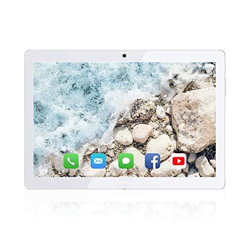 TEENO 10 Pulgadas 4G/WiFi Tablet con Ranuras para Tarjetas SIM Dobles, Procesador de Cuatro Núcleos, 1.5GHz, 2G + 16GB, Doble Cámara, WiFi, Bluetooth, GPS