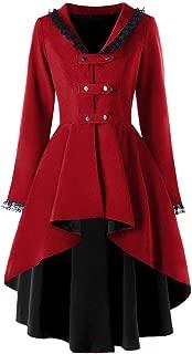 Benficial-Womens Coat Womens Slim Casual Irregular Top Outwear Long Sleeve Lace Splice Formal Coat