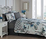 Geneva Home Fashion Cherie Blue Bed in a Bag Set, Queen