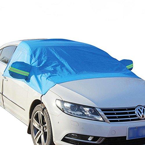 Kobwa Telo di copertura invernale per parabrezza auto, protezione da ghiaccio e gelo, con barra riflettente