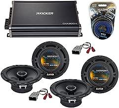 Compatible with Honda Odyssey 1995-2014 OEM Speaker Replacement Harmony (2) R65 & CXA300.4 Amp (Renewed)
