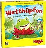 HABA 305272 - Wetthüpfen, Würfelspiel für Kinder von 3 bis 7 Jahren mit unterschiedlichen...