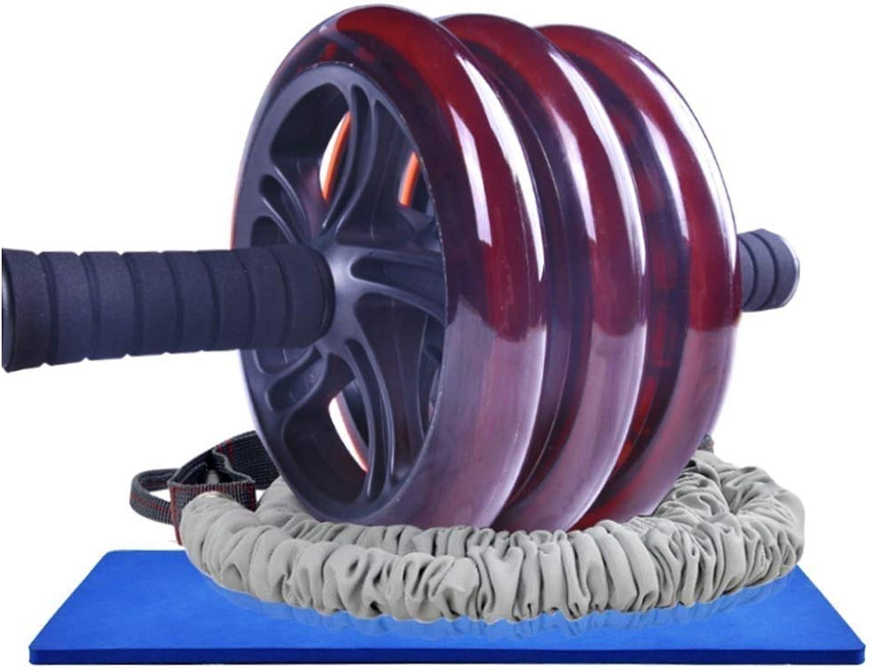 SPTAIR Bauchmuskel-Trainingsrolle mit extra Dicker Kniepolstermatte und elastischem Seilkrper-Fitness-Krafttrainingsgert AB Wheel Gym Tool