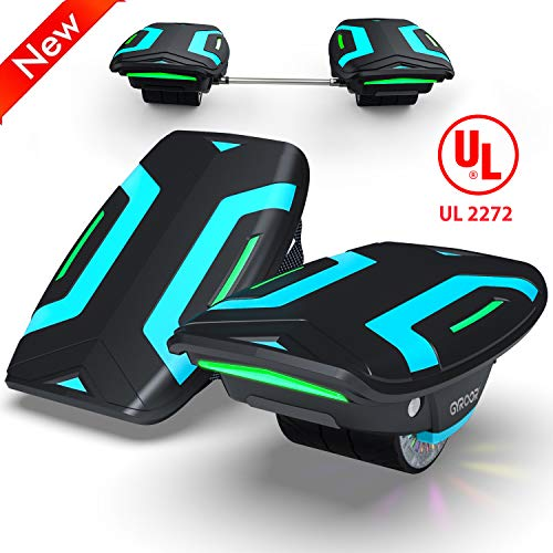 Magic hover Electric Roller Skate Hover Board with LED Lights,300W Dual Motor Self Balancing Scooter for Kids and Adults,Hovershoes Drift X1,3.5' Freeline Skate,12km/h Max Speed