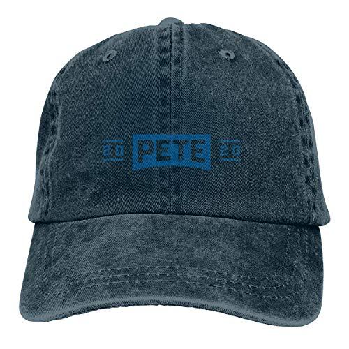 Yuanmeiju Gorra de Mezclilla Pete Buttigieg 2020 Presidential Campaig Unisex Headdress Leisure Cap Comfortable Headgear Classic Hat