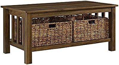 Excellent Amazon Com We Furniture Az40Mstes Rustic Wood Rectangle Machost Co Dining Chair Design Ideas Machostcouk