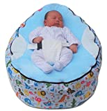 MamaBabaBebe Extra Large Baby Bean Bag with Adjustable Safety Harness & 2 Removeable Covers-UK Seller