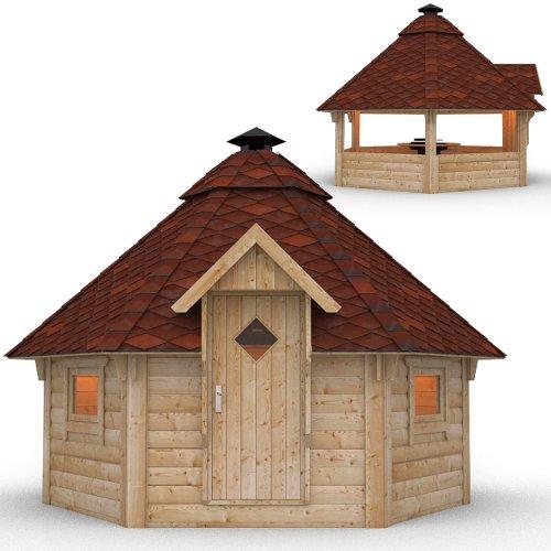 Holzgartenhaus Grillkota mit eingebautem Grill