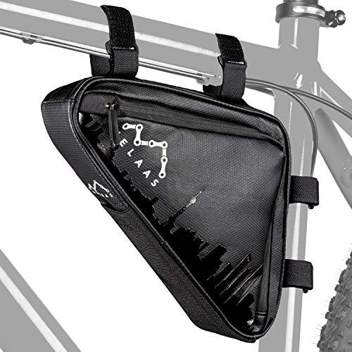 VELAAS ® Fahrradtasche Rahmen - wasserdichte Fahrrad Dreieckstasche mit Reparaturset – Fahrrad Rahmentasche für Werkzeug, Schloss und co. - mit praktischer Netzinnentasche