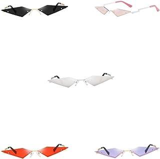 Magideal - 5 Piezas de Gafas de Sol con Forma de Ojo de Gato para Hombre