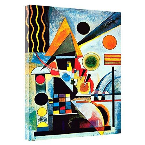 YaShengZhuangShi Druck auf Leinwand 50x70cm ohne Rahmen Balancement Swinging von Kandinsky Gemälde Leinwand Wandkunst Wohnzimmer Home Decor Bild