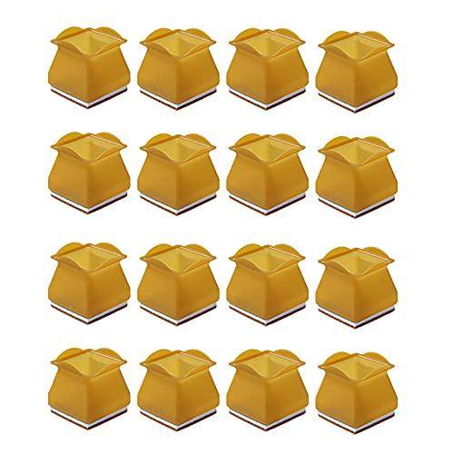 Oukerde Almohadilla de Silicona para Muebles Sillas,Las Piernas de la Silla Protectores,Protectores de Piso para,16 Piezas,Transparente/Gris/Marrón,Cuadrado/Redondo,(3-4cm / 2-3cm).