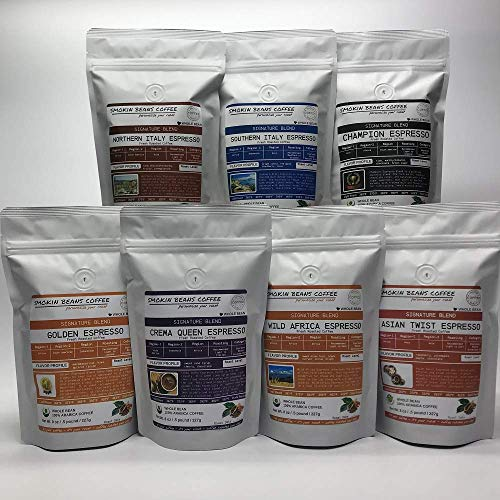 Espresso Blend, Combo Bean Box (7 Bags – 8oz Each) Premium Espresso Coffee Freshly Custom Roasted Today (Mixed Roast/Whole Bean) Customized Roast Or Grind Is Available By Messaging Us At Time Checkout