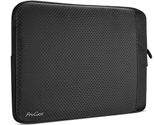 MacBook Pro 15 Sleeve Case 2018 & 2017 & 2016 Release, ProCase Protective Sleeve Bag Cover with Accessory Pocket for Apple Macbook Pro 15' (A1990/A1707) with Touch Bar and Touch ID, Dell XPS 15 –Black
