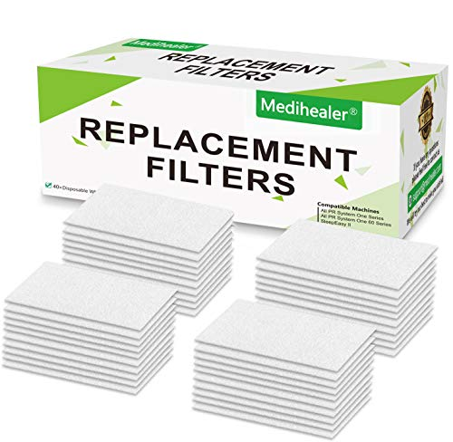 Medihealer Fine Filters 40 Packs - 40 Packs Ultra Fine Filter for M Series, PR System One and SleepEasy Series Machines, Premium Disposable Universal Filter - Medihealer Replacement Filters Supplies